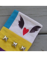 Handcrafted Funky Winged Heart Eyeglass Case - $7.95
