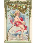 New Years Greetings Vintage 1913 Post Card - $6.00