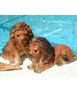 Vintage lefton lion figurine set porcelain japan thumbtall