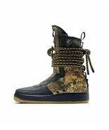 "MENS NIKE AIR FORCE 1 SF AF1 HI ""BLACK CAMO"" BOOTS ARMY REFLECTIVE AA112... - $169.99"