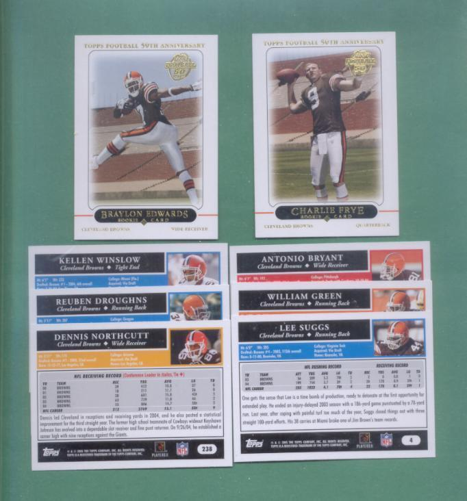 2005 Topps Cleveland Browns Football Team Set
