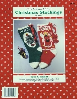 Christmas STOCKINGS to KNIT/CROCHET Tree~Angel~Whale~Cactus
