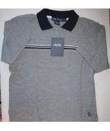 Nautica Boys Polo Shirt Gray Navy Size 7 New - $13.00