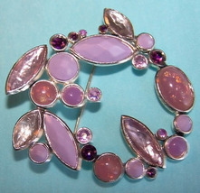 Lavender Hues Brooch Pin, Vintage - $10.00