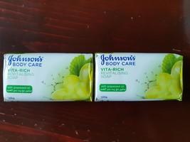 Johnson's Body Care Vita-Rich Revitalising Soaps (Grapeseed Oil) 2x - $6.51