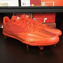 Adidas Adizero Afterburner 3 Baseball Burnt Orange Fire Men's Size 14 #1090 - $89.05