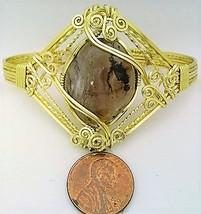 Agate Gold Wire Wrap Bracelet Sz. 6.5 - $620,11 MXN