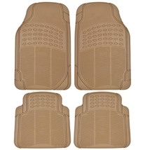 Heavy Duty 4Pc Front & Rear Rubber Floor Mats For Car Suv Van & Truck- - £31.99 GBP