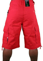 LRG Lifted Research Group Sharks Landing Red Walk Cargo Shorts NWT image 4