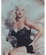 Blonde Bombshell Diana Dors Black Lace and Satin 8x10 Photo 1331621 - $9.99