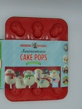 Nordic Ware Snowman Cake Pop Baking Pan Holiday Winter - $16.99