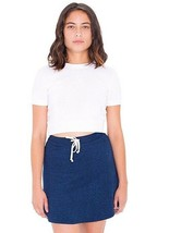 American Apparel Indigo Terry Sporty Dark Wash Indigo Mini Skater Skirt XS - $19.79
