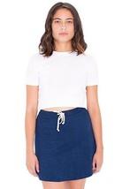 American Apparel Indigo Terry Sporty Dark Wash Indigo Mini Skater Skirt XS - $26.62 CAD