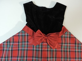 Good Lad Fancy Christmas Girl's Size 6X Classic Plaid Dress - $10.00