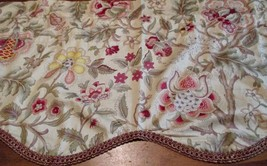 "Valance Waverly Home Classics Scalloped Yellow Floral 49 3/4"" x 17 3/4"" - $11.87"