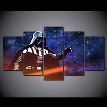 5 Pcs Star Wars Darth Vader Wall Picture Home Decor Printed Canvas Painting - $45.99+