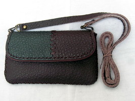 100% Genuine Leather Handmade Bag/Case Weaving Pattern for Samsung S3 and others - $26.00