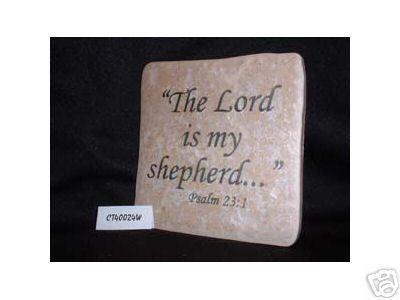 Christian Laser Engraved Ceramic Tile Psalm 23:1