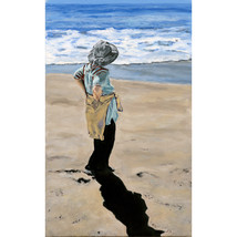 A Walk On The Beach An Original Portrait - $1,000.00