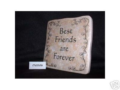 Christian Laser Engraved Ceramic Tile Friends Forever