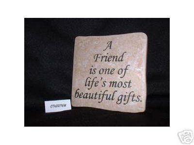 Christian Laser Engraved Ceramic Tile Friend Beautiful