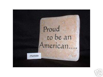 Christian Laser Engraved Ceramic Tile Proud American
