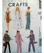 McCalls 6258 Barbie Doll Pattern 11.5 Fashion Doll New  - $9.95