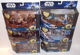 LOT Star Wars The Clone Wars Attack Speeder AT-RT Freeco DroidFigure Has... - $169.99