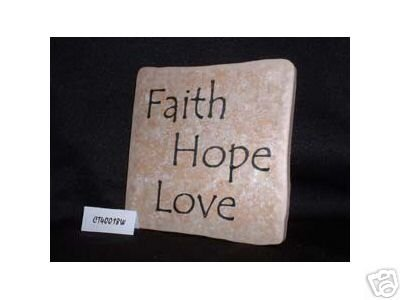 Christian Laser Engraved Ceramic Tile Faith Hope Love