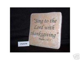 Christian Laser Engraved Ceramic Tile Psalm 147:7 - $14.95