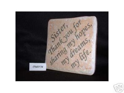 Christian Laser Engraved Ceramic Tile Sister Thank You
