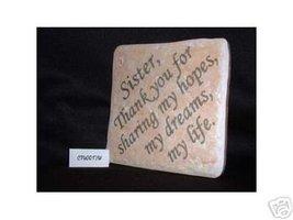 Christian Laser Engraved Ceramic Tile Sister Th... - $14.95
