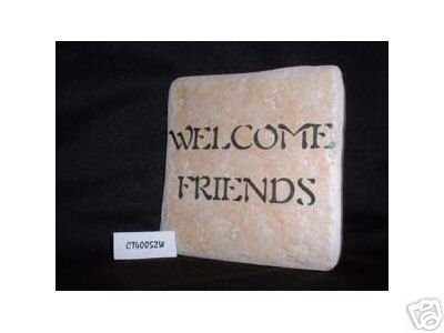 Christian Laser Engraved Ceramic Tile Welcome Friends