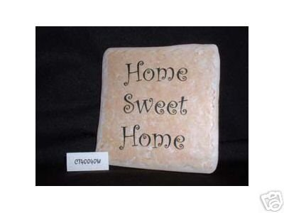 Christian Laser Engraved Ceramic Tile Home Sweet Home