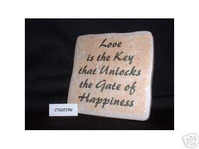 Christian Laser Engraved Ceramic Tile Love Key