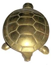 Vintage Tortoise Turtle Figurine Hinged Brass Trinket Box Miniature Statuette image 3