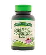 Nature's Truth Echinacea & Goldenseal Root Plus 100 Capsules - $10.14