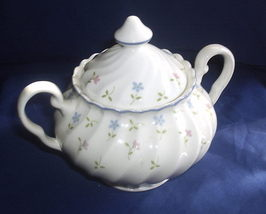Johnson Brothers Melody Pink and Blue Flowers Sugar Bowl - $35.00
