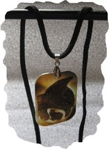 NEW Eagle Hand Carved Real Shell Cameo Necklace - $14.28