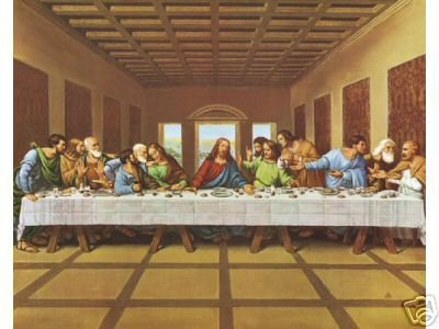 Last Supper Jesus Christian Apostles 8 x 10 Art Print