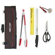 """BBQ Grilling knife tool set Grill tongs 12"""" slicer thermometer shears kn... - £48.65 GBP"""