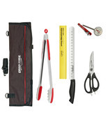 """BBQ Grilling knife tool set Grill tongs 12"""" slicer thermometer shears kn... - £48.99 GBP"""