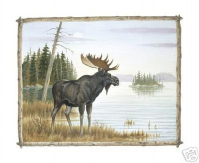 Wild Moose by Jenkins 8 x 10 Art Print Wildlife Scene