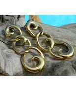Vintage Napier Earrings Dangles Goldtone Triple... - $19.95
