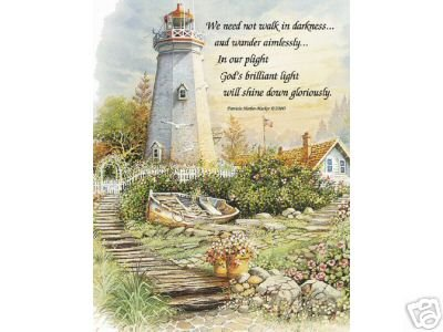 Lighthouse Boat with Verse Orpinas 8 x 10 Print