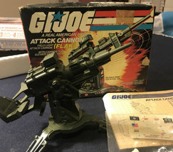1982 G.I JOE COBRA HASBRO COBRA FLAK ATTACK CANNON + BOX COMPLETE W/stic... - $135.45