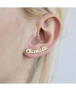 Custom Name Plate Earrings For Women Girls Stainless Steel Jewelry  Earr... - $24.99