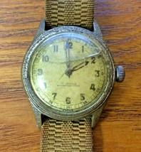 Strange Unusual WW2 Timor Watch Co.17 JEWELS 7801 Non Magnetic Swiss LL ... - $78.21