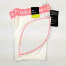 Nike Girl's Dri-FIT Softball Slider Shorts Padded Size Sm (White) AV6843-100 - $18.80