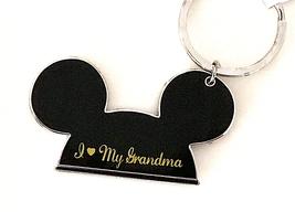 Walt Disney World Mickey Mouse Ears I Love My Grandma Metal Keychain NEW - $16.90